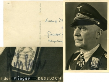 Photo Hoffmann/ORIGINAL-Autogramm / General Dessloch