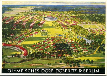 Olympia AK / OLYMPIADE 1936 BERLIN / OLYMPISCHES DORF